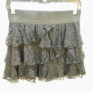 Joe Benbasset black lace mini skirt